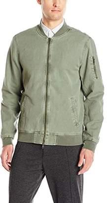 Michael Stars Men's Linen Canvas Bomber Jacket