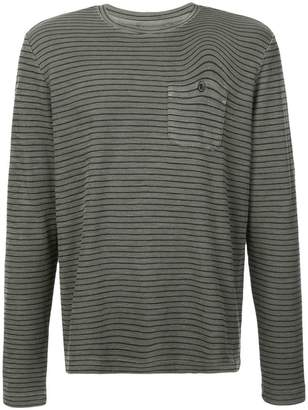 Michael Bastian striped crew neck top