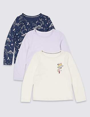 Marks and Spencer 3 Pack Pure Cotton Tops (3 Months - 7 Years)