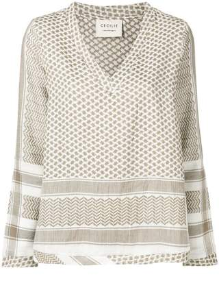 Cecilie Copenhagen patterned tunic top