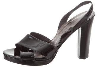 Diane von Furstenberg Patent Leather Ankle-Strap Sandals