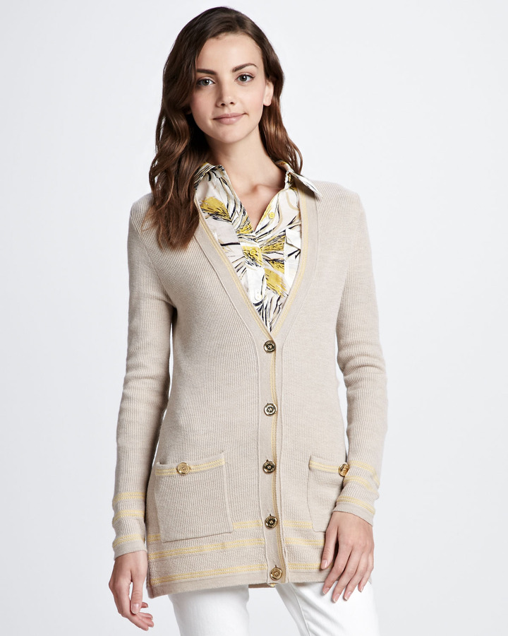 Tory Burch Mallorie Ribbed Cardigan