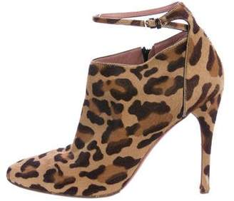 Alaia Ponyhair Printed Ankle Boots
