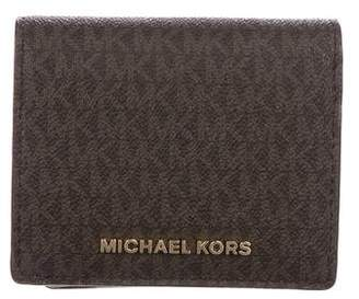 Michael Kors Monogram Flap Wallet