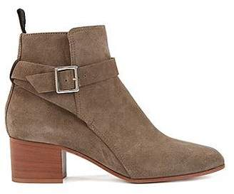 HUGO BOSS Ankle boots in Italian split leather with ankle strap