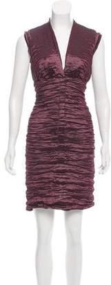 Nicole Miller Sleeveless Gathered Dress