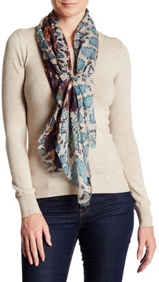 Collection XIIX Sun Snake Printed Square Scarf $38 thestylecure.com