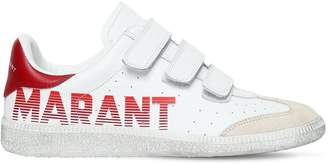 Isabel Marant 20mm Beth Logo Leather Strap Sneakers