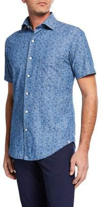Peter Millar Men's Hawaiian Hibiscus Short-Sleeve Sport Shirt