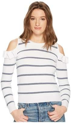 BB Dakota Eloisa Cold Shoulder Striped Sweater Women's Sweater