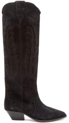 Isabel Marant - Denzy Suede Boots - Womens - Black
