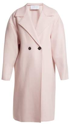 Harris Wharf London Dropped Shoulder Pressed Wool Coat - Womens - Light Pink
