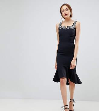 Little Mistress Tall Peplem Midi Dress