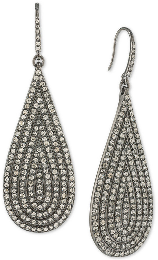 ABS By Allen Schwartz ABS by Allen Schwartz Hematite-Tone Pavé Drop Earrings