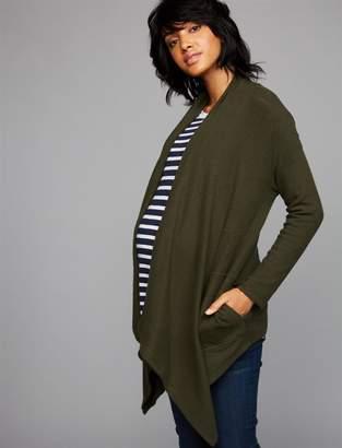 Velvet Rib Knit Maternity Cardigan