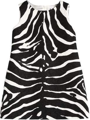 Dolce & Gabbana Zebra Brocade A-Shape Dress
