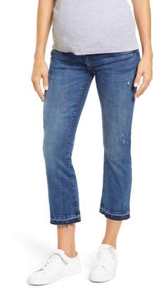 DL1961 Lara Released Hem Crop Flare Maternity Jeans