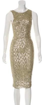 Alice + Olivia Embellished Midi Dress