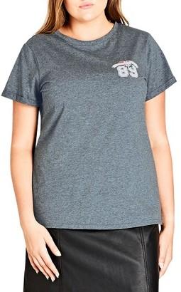 Plus Size Women's City Chic Premier Graphic Tee $39 thestylecure.com