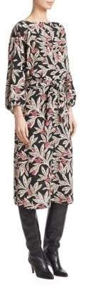 Etoile Isabel Marant Lisa Floral Printed Midi Dress