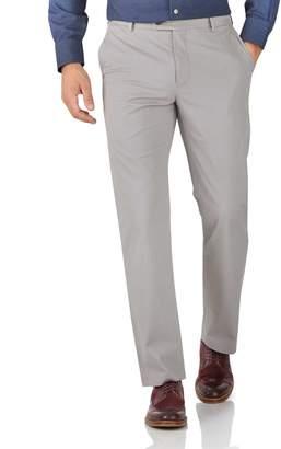 Charles Tyrwhitt Grey Classic Fit Stretch Cotton Chino Pants Size W32 L30