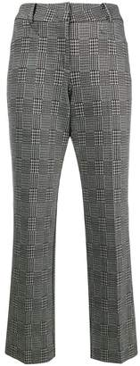 Cambio houndstooth cropped trousers