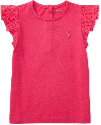 Ralph Lauren Flutter-Sleeve Top, Baby Girls (0-24 months) $25 thestylecure.com