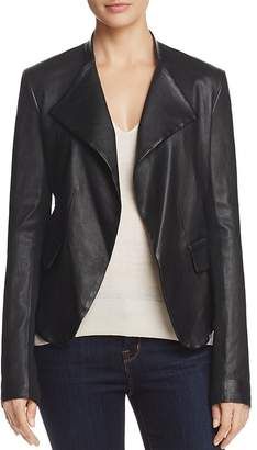 Theory Peplum-Detail Leather Blazer