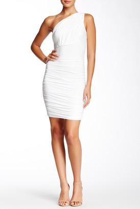 Soprano Shirred One-Shoulder Dress $46 thestylecure.com