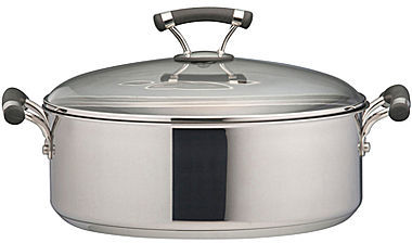 Circulon Contempo Stainless Steel 71⁄2-qt. Covered Wide Stockpot