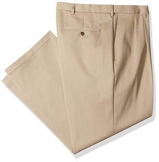 Haggar Men's B&t Premium No Iron Classic Fit Pleat Front Pant