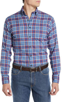 fa115d0a1b5 Peter Millar Men s Lawler Performance Check Flannel Shirt