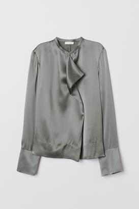 H&M Silk Blouse - Gray