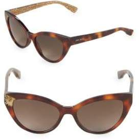 Jimmy Choo Costy/S 54MM Cat-Eye Glitter Sunglasses