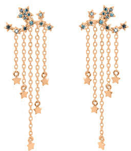 Stevie Wren 14k Rose Gold Star Ear Climber Earrings