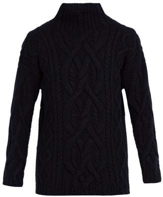 Connolly - Chunky High Neck Wool Blend Sweater - Mens - Navy