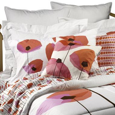 Poppies Mini Comforter Set by Jonathan Adler, 100% Cotton