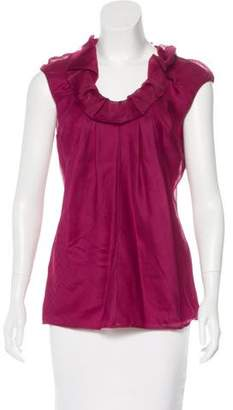 Lela Rose Sleeveless Silk Top