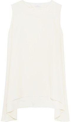 IRO - Lee Draped Crepe Mini Dress - White $350 thestylecure.com