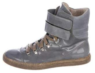 Brunello Cucinelli Patent Leather Ankle Boots Patent Leather Ankle Boots