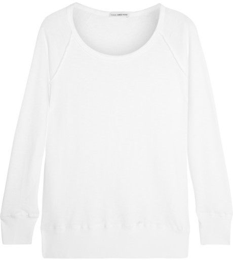 James Perse Inside Out Supima cotton-terry sweatshirt