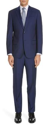 Emporio Armani Trim Fit Stripe Wool Suit