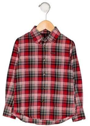 DSQUARED2 Boys' Plaid Button-Up Shirt