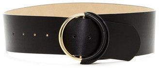 Wide Tapered Smooth Contour Faux Leather Belt $38 thestylecure.com