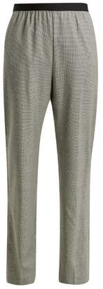Maison Margiela Pied De Poule Check Wool Trousers - Womens - Grey