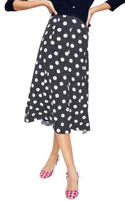 Boden Floaty Polka Dot Midi Skirt
