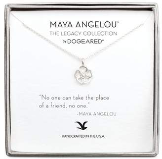 "Dogeared Maya Angelou Legacy Collection ""No One Can Take the Place of a Friend"" Necklace, 16"""