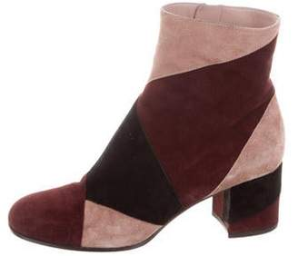 Gianvito Rossi Angled Patchwork Booties