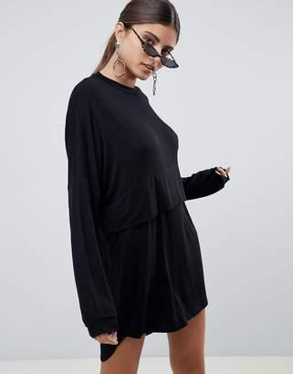 PrettyLittleThing Long Sleeve T-Shirt Dress