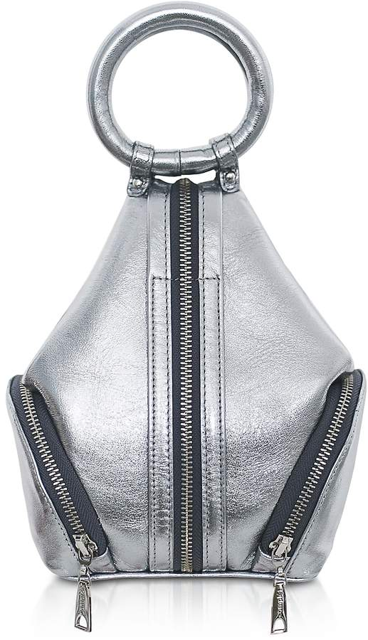 Complet Silver Laminated Leather Eve Micro Bag